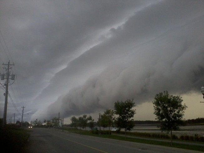 That's some weather rolling in near Yarmouth Nova Scotia.