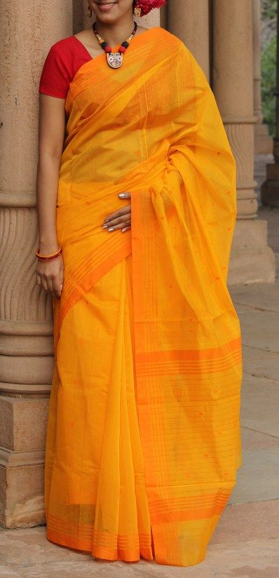 Handwoven Chanderi Saree from HandsOfIndia