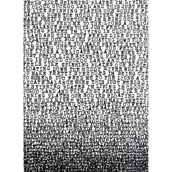 #radiohead #likespinningplates #letterstamps #samserif