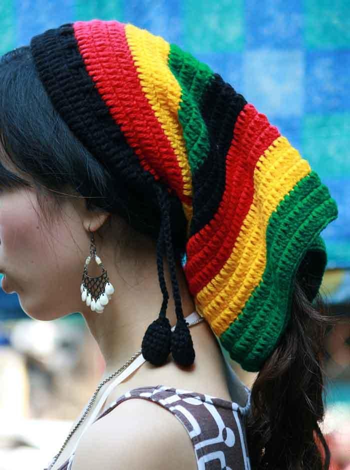 Hippie Bob Marley Dreadlock Hat Rare