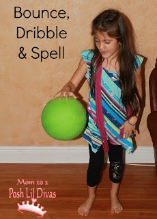 bounce, dribble & spell - let kids get active and practice spelling words too. Lots of other ideas for spelling practice too.