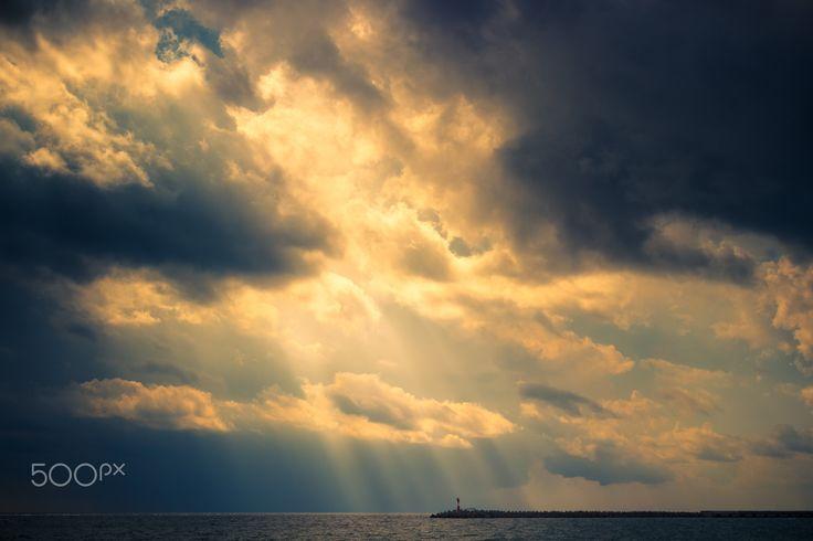 Lighthouse - Coast of the Black Sea, Sochi, Russia.