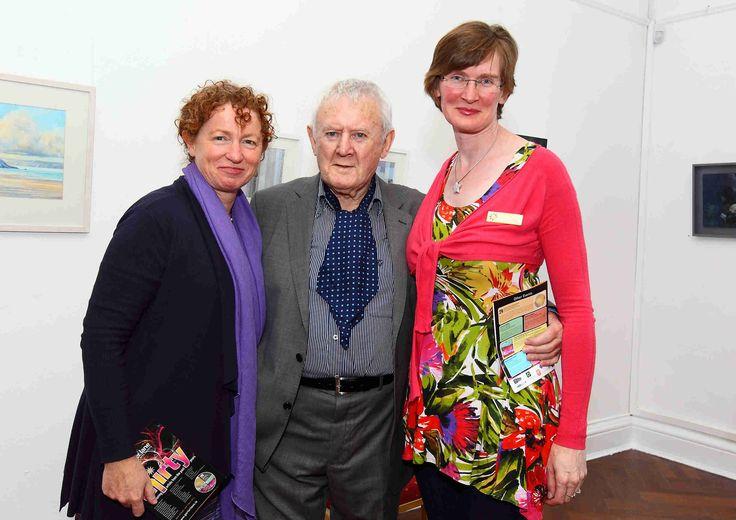 Caroline Senior, Artistic Director of Garter Lane Arts Centre pictured with Niall Tóibín and Antoinette Walker www.noelbrownephotographer.com — at Garter Lane Arts Centre.