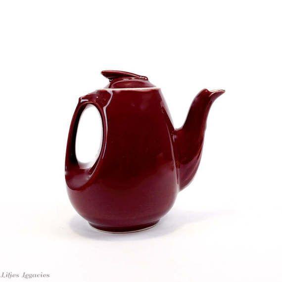 Halle China Kastanienbraun Sonnenuhr Teekanne von LiliesLegacies