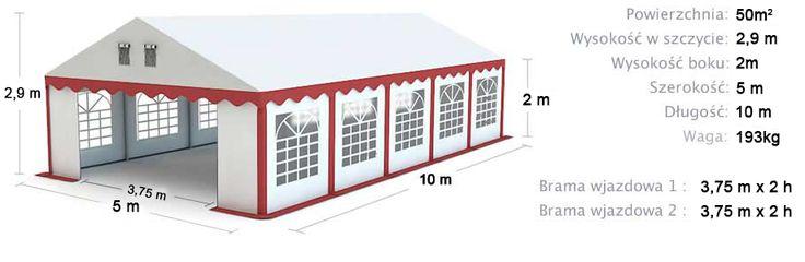 Namiot Handlowy Imprezowy 5m x 10m (50m²) całoroczny STANDARD MAX / Commercial Tent 5x10 Winter