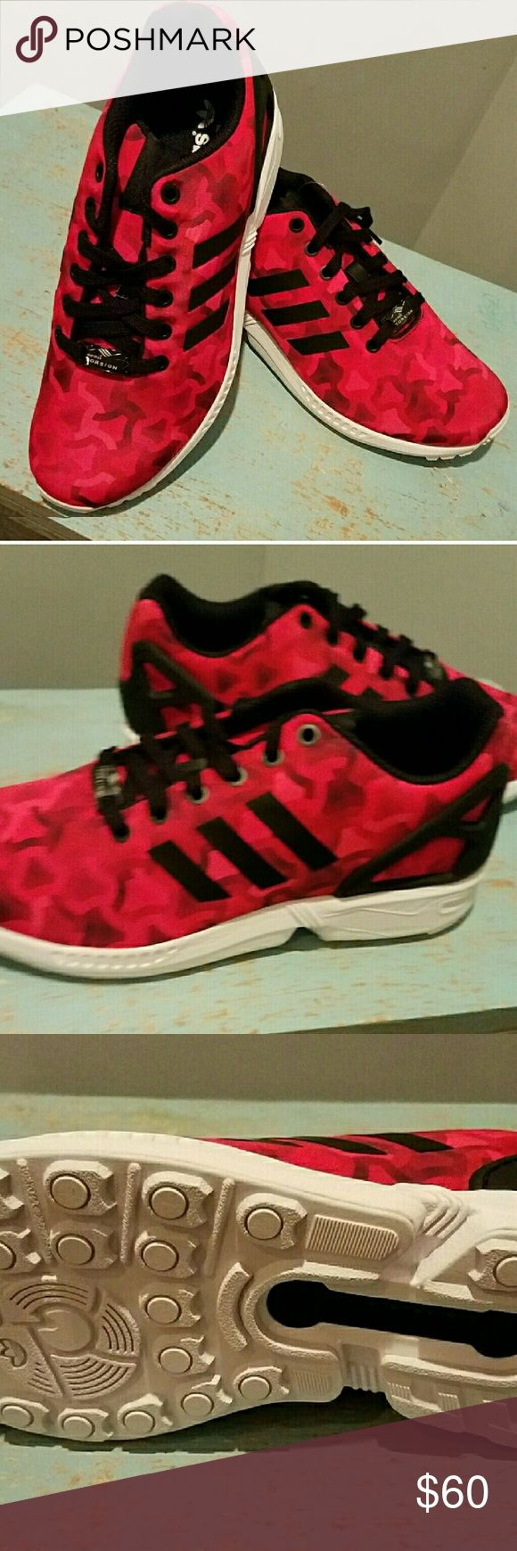 Zx Flux Red Black NWT Authentic Shoes Sneakers