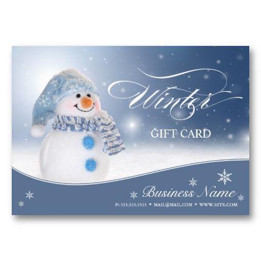 christmas business card template