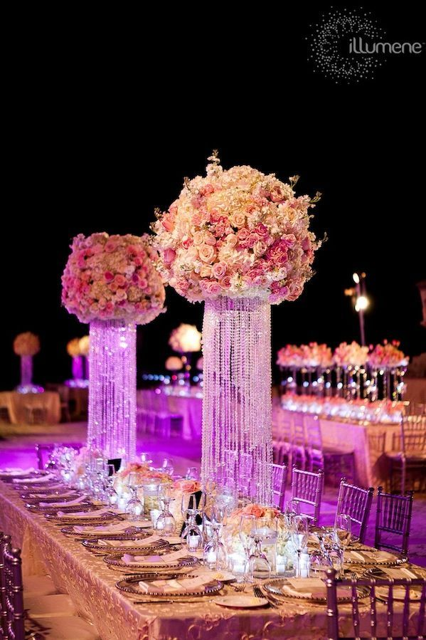 1001 best images about centerpieces bring on the bling for Flower arrangements for sweet 16