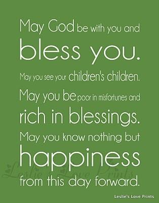 Irish Blessing - Irish Wedding Blessing