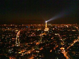 View of Paris and the Eiffel Tower from LaTour Montparnasse