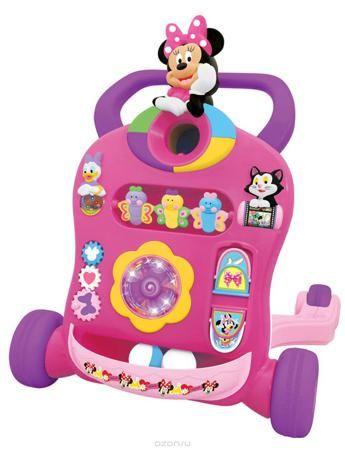 Kiddieland Каталка-ходунок Минни Маус  — 5393р. ---------------- Устойчивые ходунки, которые помогут ребенку сделать первые шаги под веселые песенки Микки Мауса! Вращайте красочный ролик с Минни или крутите шарики с Дональдом. Нажимайте на разные цветные кнопки, чтобы выучить фигуры и услышать поощряющие звуки и мелодии с мигающими огоньками. С подсвечиваемым экраном для отображения фигур и других узоров для улучшения процесса обучения и визуального восприятия. С цветными шариками, чтобы…