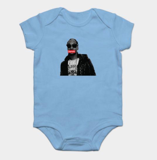 Perfect baby boy gift for Supreme Snoop lovin' mama. Hilarious! Suprizzle. #babyshowergifts #babyboy #babygifts #notsupreme