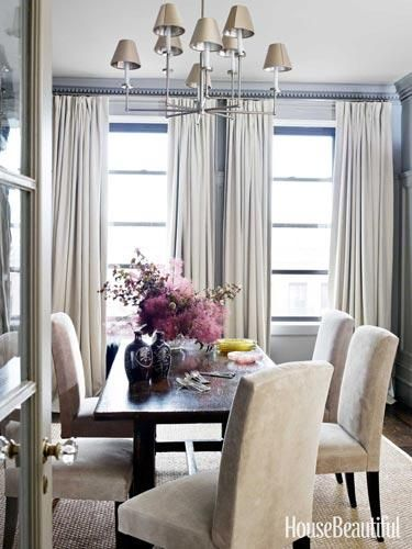 Neutral dining room with rich accents
