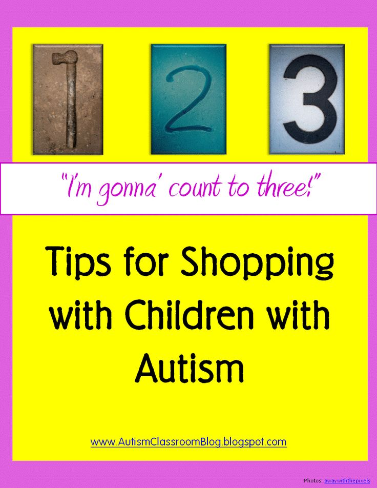 Shopping with your child or student with autism. #autism #shopping #tips