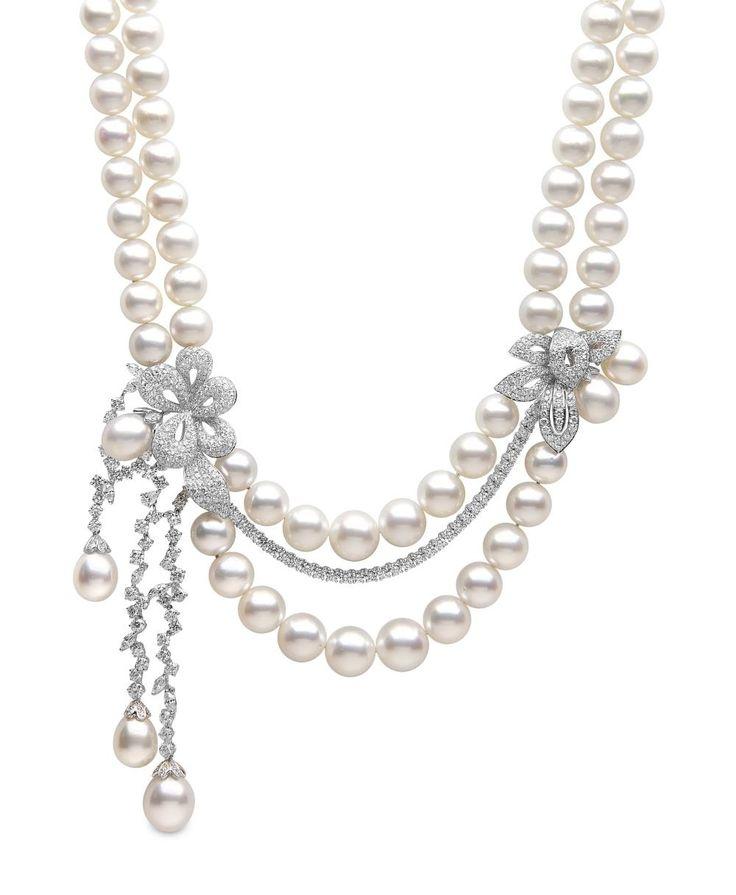 Yoko London South Sea pearl and diamond necklace.#jewelry