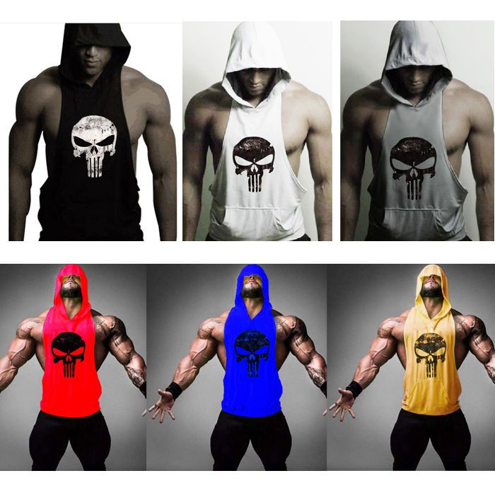 Hot Men Gym Clothing Bodybuilding Stringer Hoodie Tank Top Muscle Hooded Shirt #UnbrandedGeneric #TankTop