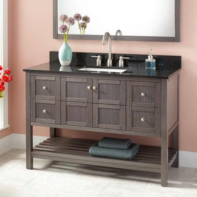 "72 Everett Double Vanity For Semi Recessed Sink: 48"" Everett Vanity For Rectangular Undermount Sink"