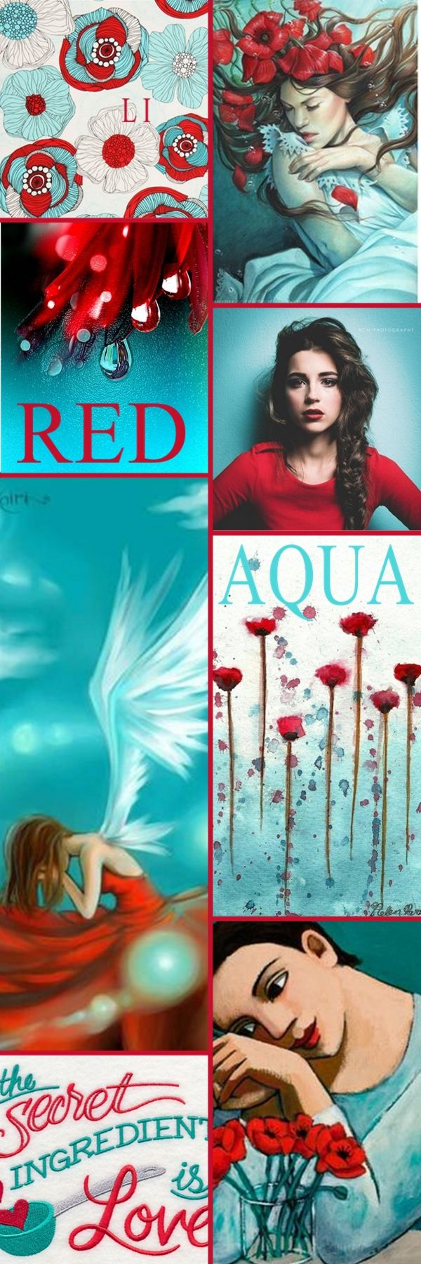 "Good evening Ladies.  Let's pin "" RED AND AQUA"" next.  Thanks so much and Happy Pinning ❤"