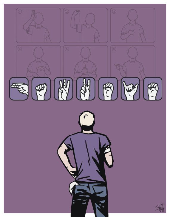 Hawkeye Clint Barton Matt Fraction/David Aja Sign Language ASL Print/Poster