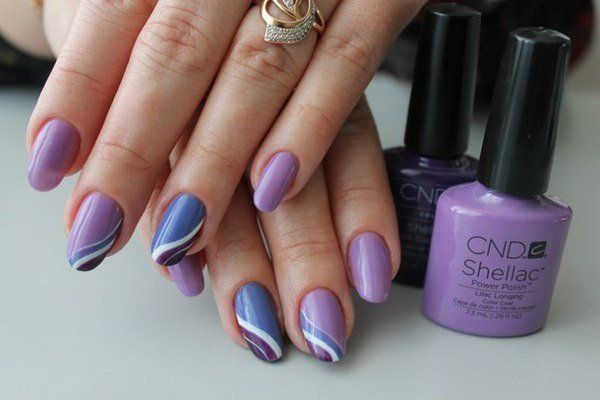 Everyday nails, Julynails, Lilac gel nail, Manicure 2016, Manicure by summer dress, May nails, Nails ideas 2016, Nailswith wavy lines