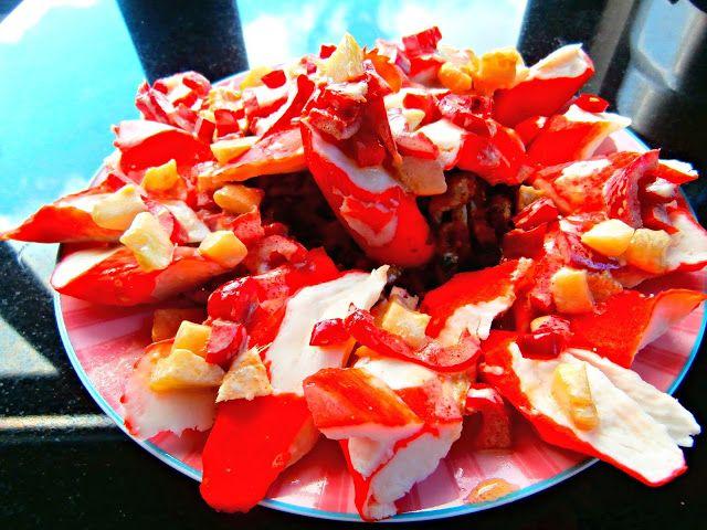 Dzoli volinet.kuvar: Salata od surimi rakova i soba rezanaca * Salad of...