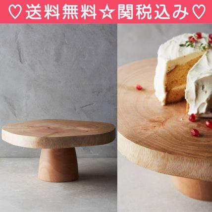 【送料・関税込】Anthropologie 木製☆おしゃれなケーキスタンド
