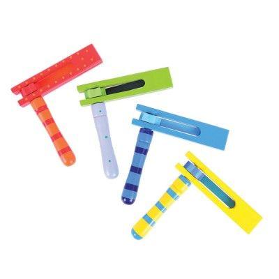 Bigjigs toys Detské hudobné nástroje - Farebný rapkáč
