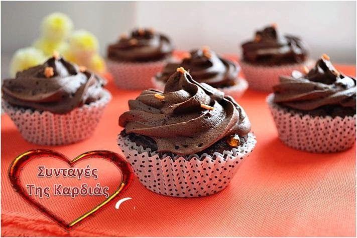 Cupcakes sacher http://syntageskardias.blogspot.gr/2014/01/cupcakes-sacher.html