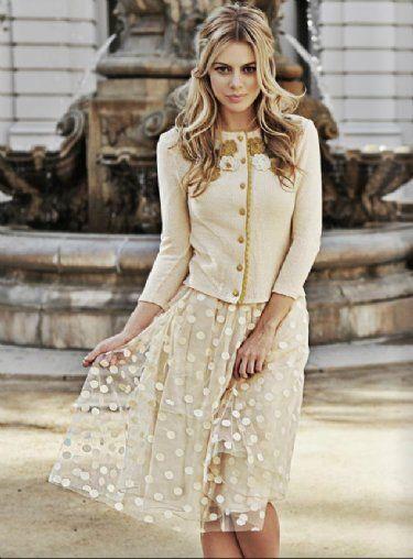 Women's Pretty Polkadot Skirt Now in Stock!