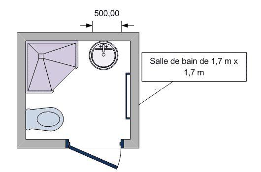 Plan petite salle de bain avec wc recherche google for Petite salle de bain avec wc