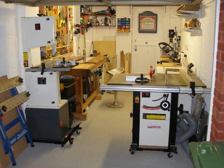 One Car Garage Workshop Layout