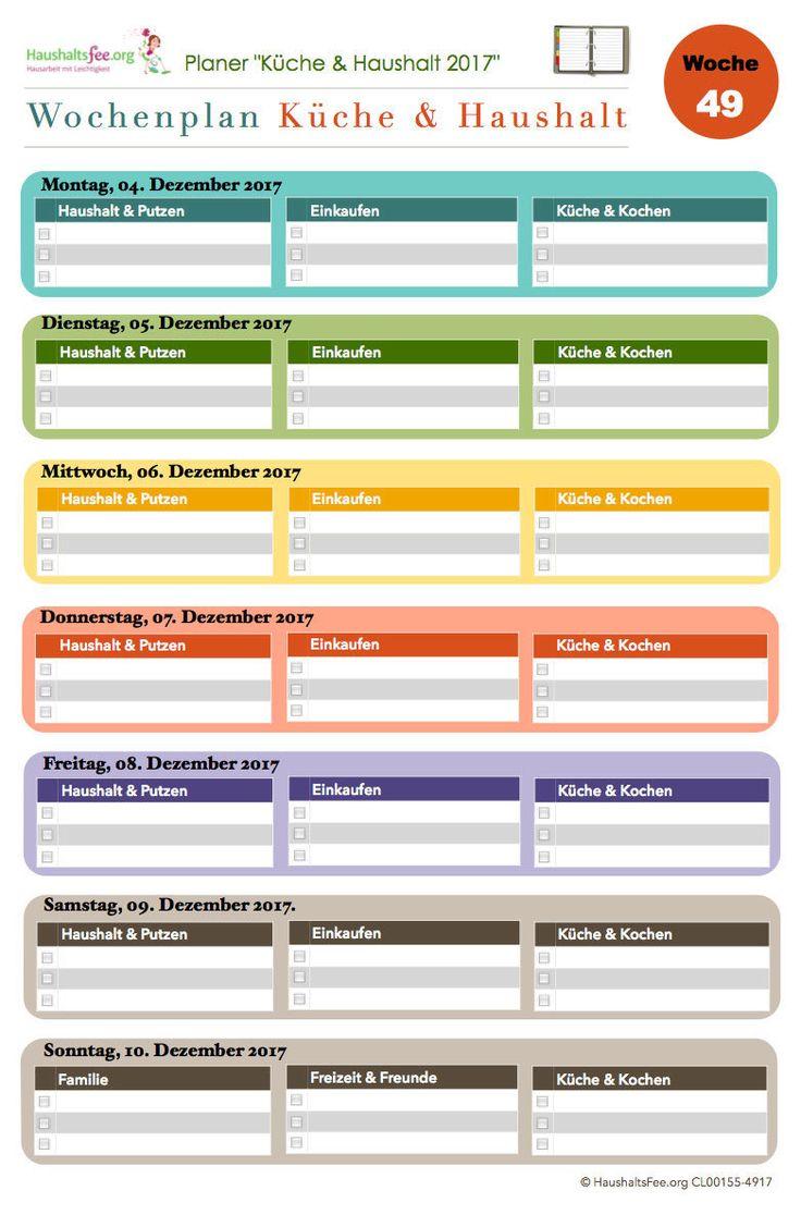 Cool K che u Haushalt der Haushaltsfee Jahresplaner