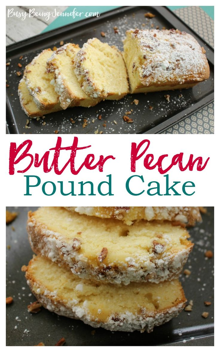 Butter Pecan Pound Cake Recipe - BusyBeingJennifer.com