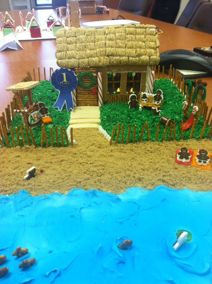 Office gingerbread contest. Everything is edible! A Beachy ...