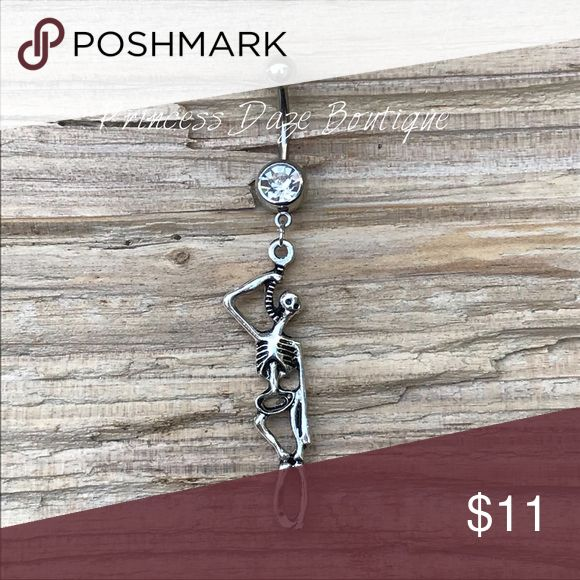 Hängendes Skelett Bauchnabel Ring Bauchnabelpiercing Körperschmuck Material: 316L …   – My Posh Picks