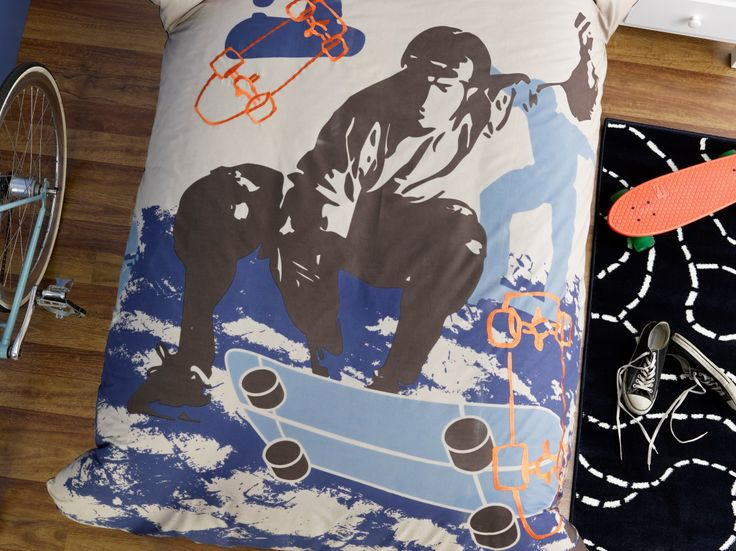 Skater - For boys 8-12 years Printed design with highlights of embroidery 225TC Polyester Cotton Available in: Quilt Cover sets - SB, DB 45cm x 45cm filled cushion 30cm x 45cm filled cushion http://store.dreamtimeaustralia.com.au/product/skater