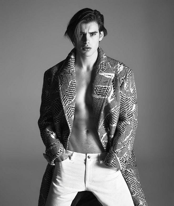 top versace male models | Dominik Bauer, Matt Trethe & Travis Smith for Versace FW13.14