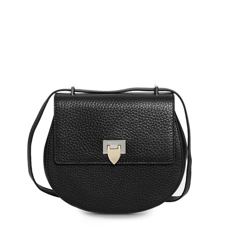 Decadent Tiny Satchel Bag W/ Buckle Black