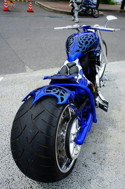 Blue chopper. Get ready to blow your mind! How would you like to ride on this through Hamburg, Germany on your vacay!!
