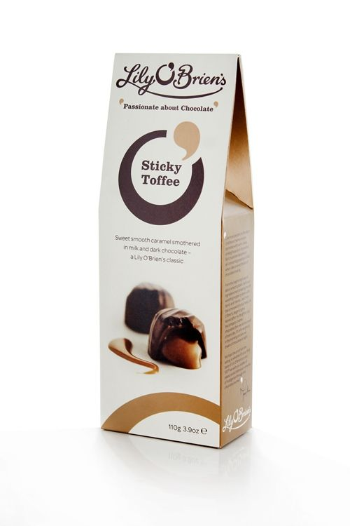 Sticky Toffee Pouch, 8 Chocolates, 110g available at LilyOBriens.ie