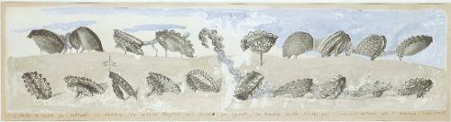 Max Ernst, L'ascaride de sable, gouache, pencil on print, 1920, London, private collection.