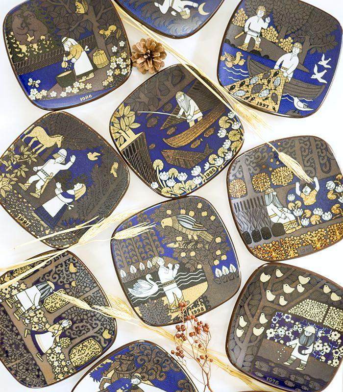 アラビア/ARABIA カレワラ/Kalevala イヤープレート 1978年   アラビア「カレワラ」シリーズのイヤープレートは、 世界中で多くの方にコレクションされているプレートです。 モチーフはフィンランドの抒情詩「カレワラ」が題材にされています。