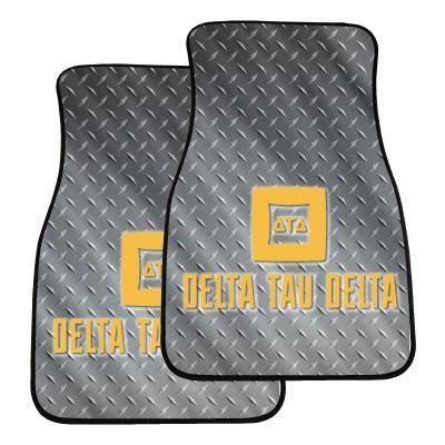 Delta Tau Delta Car Floor Mat Set - Metal Design
