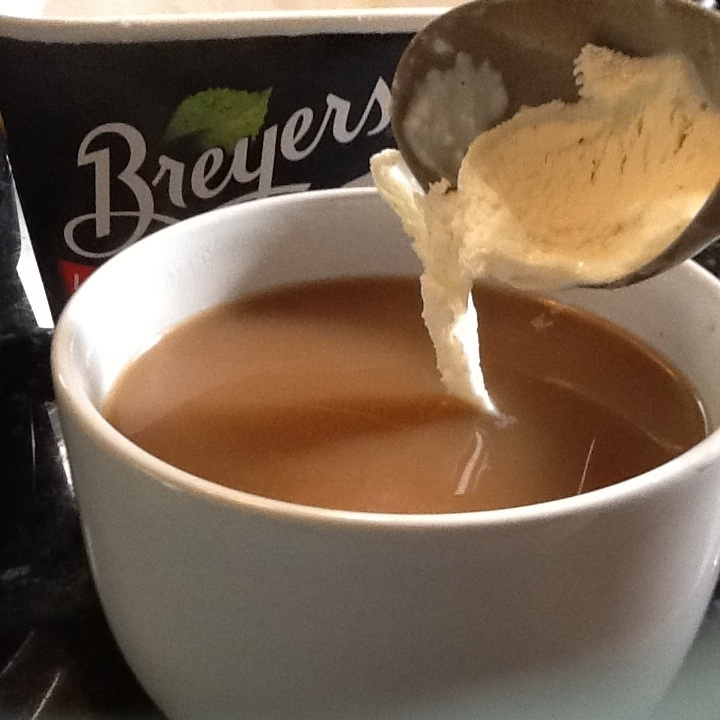 Vanilla ice cream substitutes in a pinch when you've run out of cream for your coffee. This one is lactose free.: Photo Upload
