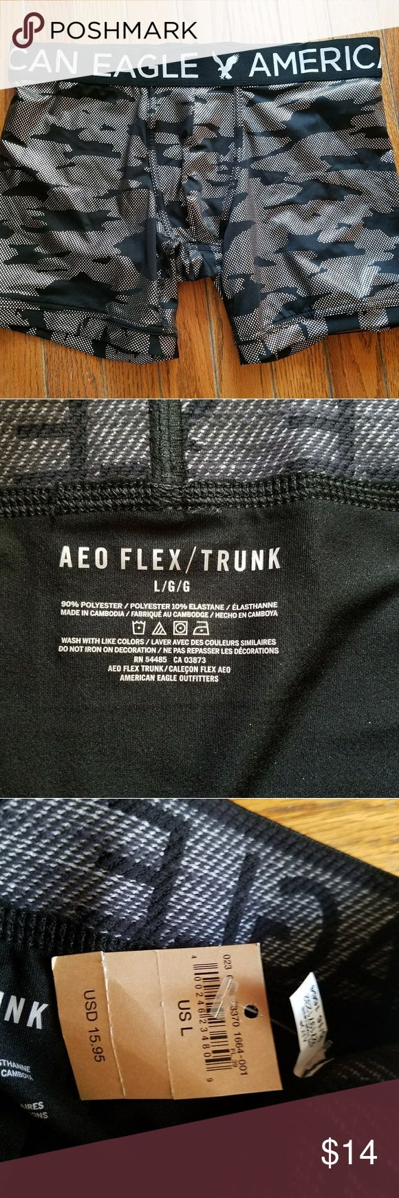 American Eagle Flex Trunk Flex Trunk underwear has silky material. Does NOT have front flap. American Eagle Outfitters Underwear & Socks