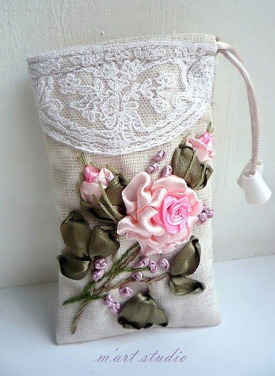Crochet Knitting Handicraft: Embroidery ribbons