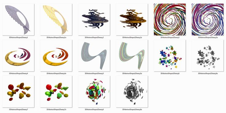 16 creative abstract 3D shapes. Great for your new modern or futuristic projects! Free download