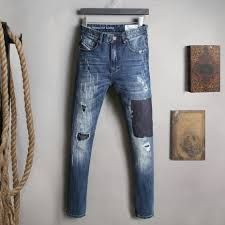 Salidas informales lo puedes utilizar en un momento familiar o de amigos, Jean para caballero, color oscuro, estilo desgastado y rasgado, talla 28-38, precio 70.000 $
