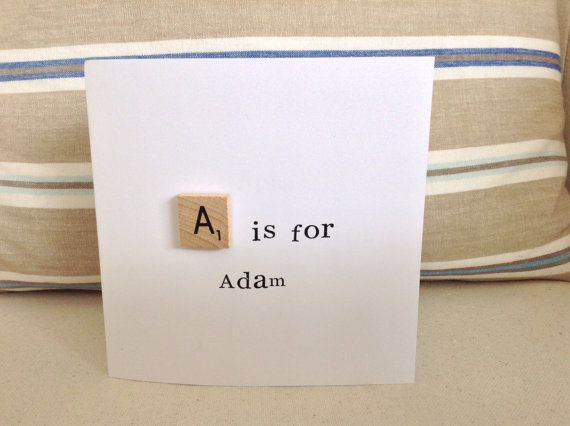 Alphabet scrabble cards for any occasion, although would be perfect for a Naming Day, Christening, New Baby etc!  Please select the letter you would