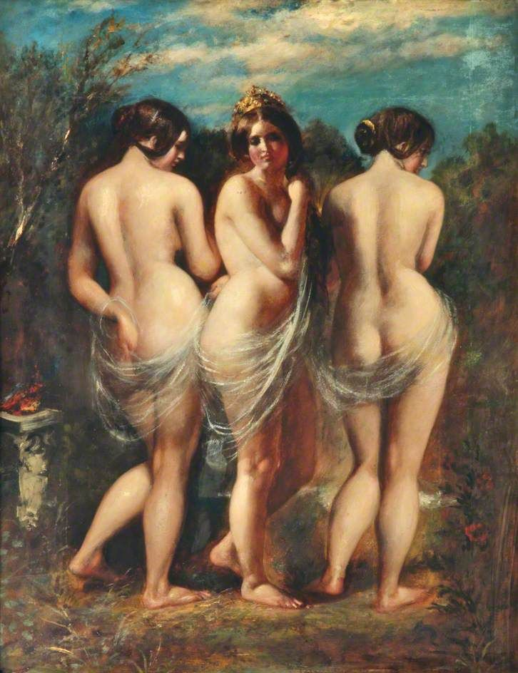 The Three Graces by William Etty  oil on board  Lady Lever Art Gallery